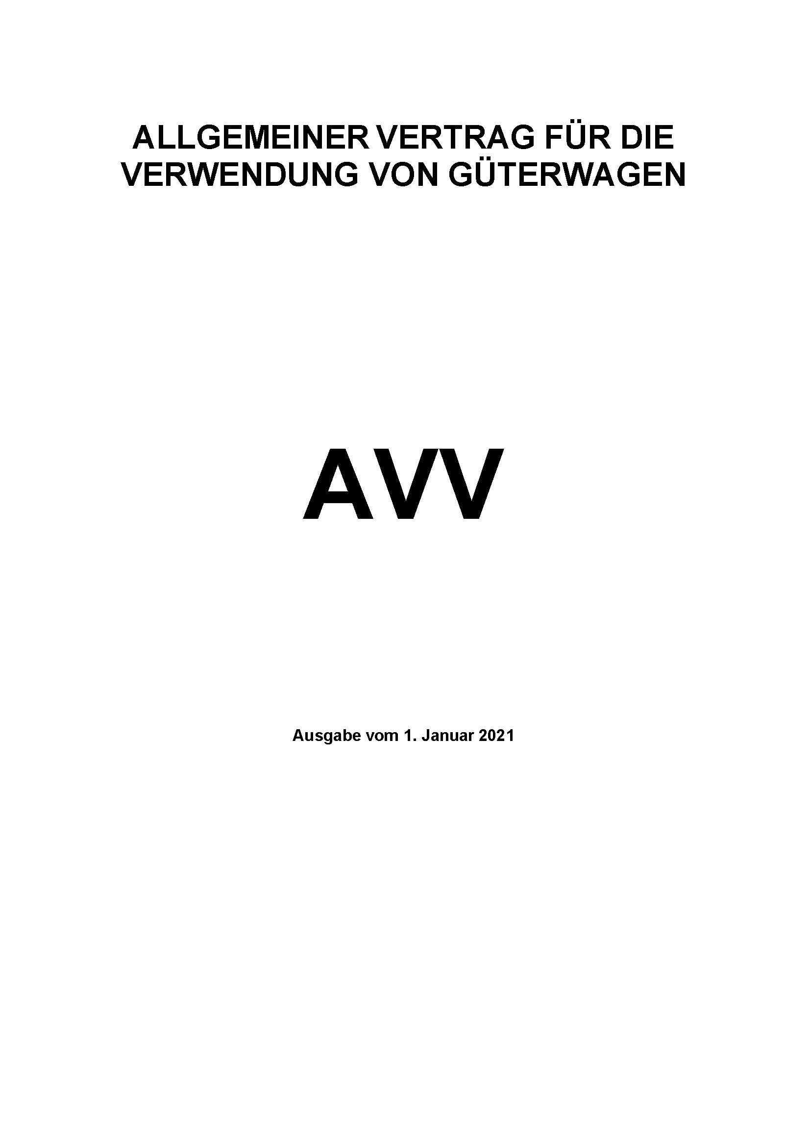 Downloads - Das Bild zeigt den aktuellen Vertrag für die Verwendung von Güterwagen. Stand Januar 2020.